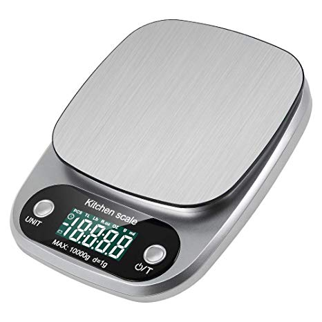 Lavuky DK04 - Bilancia digitale da cucina, 10 kg, display LCD