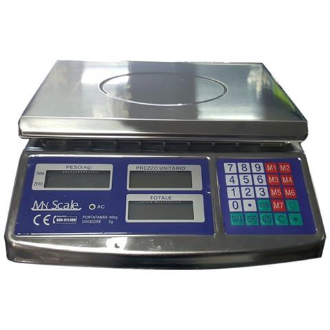 MY SCALE - Bilancia Da Banco Alimenti Professionale Acciaio Inox