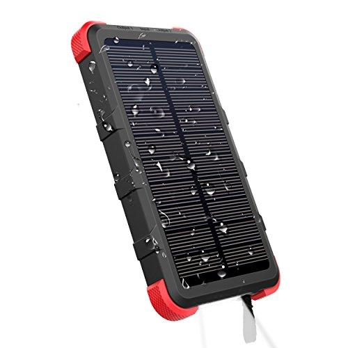 OUTXE Powerbank Solare Impermeabile Caricabatterie Solare