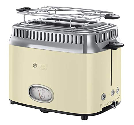 Russell Hobbs Retro Collection Tostapane, 1300 W, Acciaio