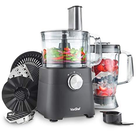VonShef Robot da Cucina 750 W - Frullatore, tritatutto