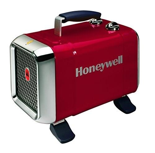 Honeywell HZ-510E2 Stufetta, Rosso Chiaro/Cromato Argento Rosso
