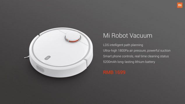 Xiaomi presenta Mi Robot Vacuum, il robot aspirapolvere