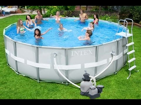 Piscina fuori terra Intex 28332 rotonda - ProduceShop.it - YouTube