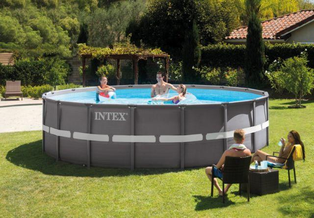 Piscina INTEX 26324 PLUS ultraframe rotonda 488 x 122 cm con pompa