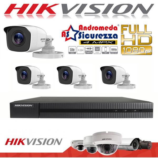 KIT VIDEOSORVEGLIANZA HIKVISION HIWATCH 16 CH FULL HD 4 MEGAPIXEL