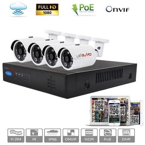 Lga Sicurezza - Kit Videosorveglianza Ip Ls Ip Nvr 4 Canali + 4