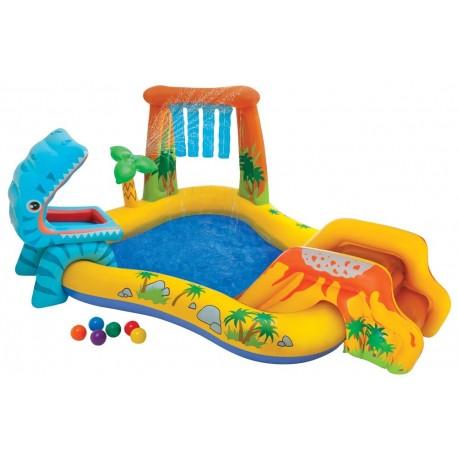 Piscina per bambini parco giochi Dinosauri con scivolo e palline