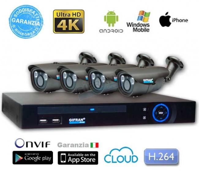 Videosorveglianza ip: Kit telecamere 4K professionale: Prezzo