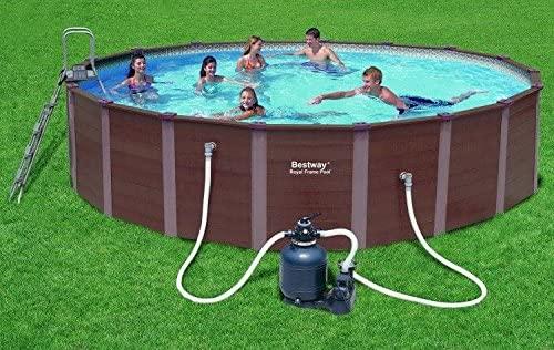 Bestway 56189GS Royal Frame Pool Diametro 549 cm Effetto Legno