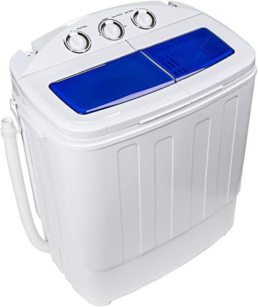 Dawoo 4.4Kg Mini Lavatrice Portatile Lavatrice a Doppio Cilindro