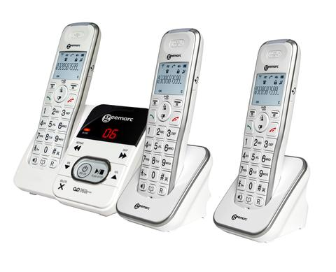 Geemarc AmpliDECT295 Amplified Cordless Trio Telephone from