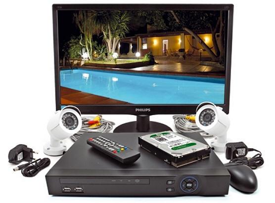 Kit videosorveglianza 2 telecamere HD infrarossi