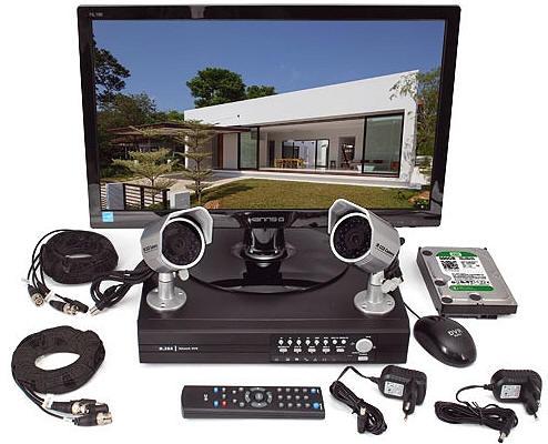 Kit videosorveglianza Tvcc 2 telecamere infrarossi