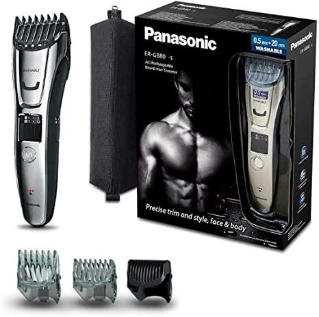 Panasonic ER-GB80-S503 Regolabarba e Tagliacapelli Impermeabile e