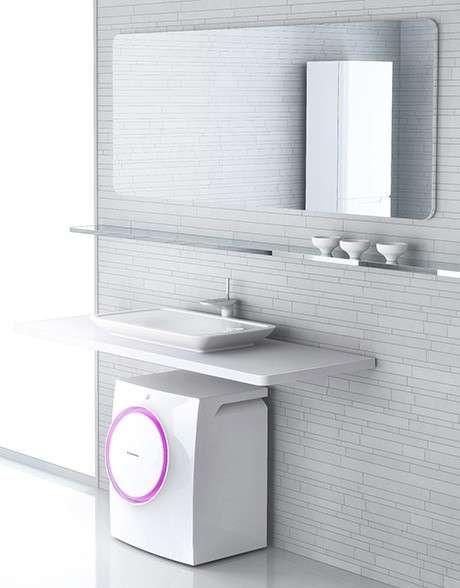 Bagno piccolo con lavatrice | Bagno piccolo, Design del bagno, Bagno