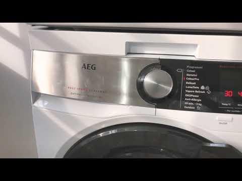Lavatrice AEG 9000 series - YouTube
