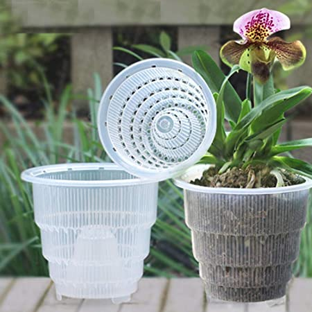 Set di 4 pz, vaso di fiori trasparente per di orchidee, con foro