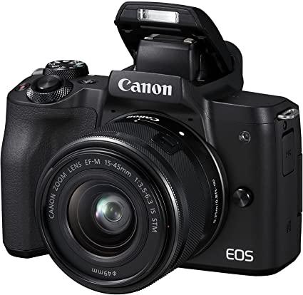 Canon Italia EOS M50 + EF-M Fotocamera Mirrorless, Nero, Lunghezza