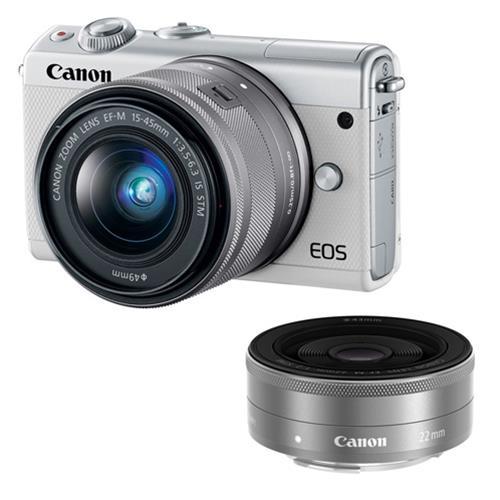FOTOCAMERA MIRRORLESS Canon EOS M100 + 15-45mm + 22mm White Prezzo