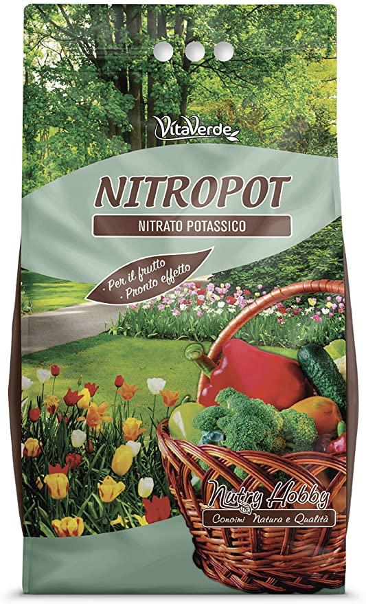 NITROPOT, concime potassico per ortaggi e frutta, kg 5, Vitaverde