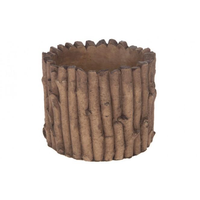 Vaso in cemento e legno — Vasi per Piante | Ambroso