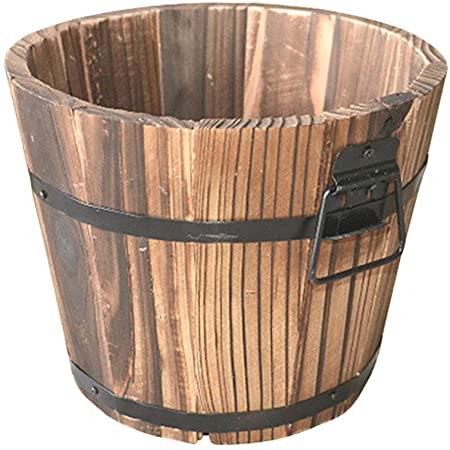 Yardwe Fioriere in Legno barile fioriere da Esterno vasi per