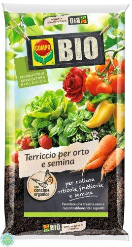 Compo terriccio bio per orto e semina lt.50 - Agraria Comand