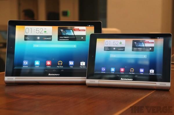 Lenovo Yoga Tablet da 8 e 10 pollici disponibili per la vendita in