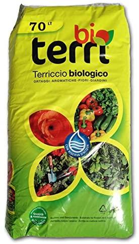 Terriccio Universale Biologico 100% Naturale 70 LT Ortaggi,Piante