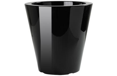 Plastecnic - Creativi per natura - Vcn Vaso Conico Laccato 40 Nero