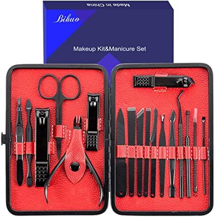 Set manicure, Bihuo 18 In 1 Kit forbici per unghie professionale