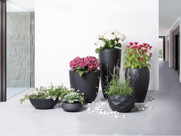 Vaso da fiori nero da esterno - 34x34x12cm - MURITZ - ✅ Homelook