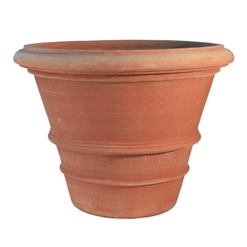 vaso liscio in terracotta d'Impruneta fatto a mano, shop online!