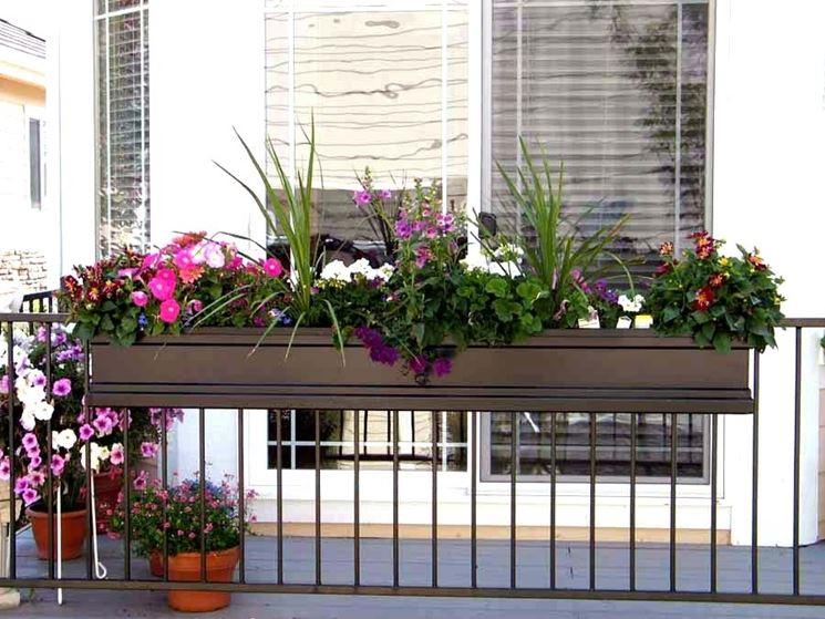 Fioriera da balcone - Vasi da giardino - Fioriera materiale