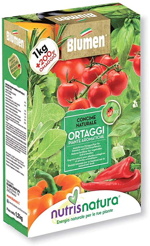 Nutrisnatura Concime Naturale Pomodori, Ortaggi e Piante, Rosso