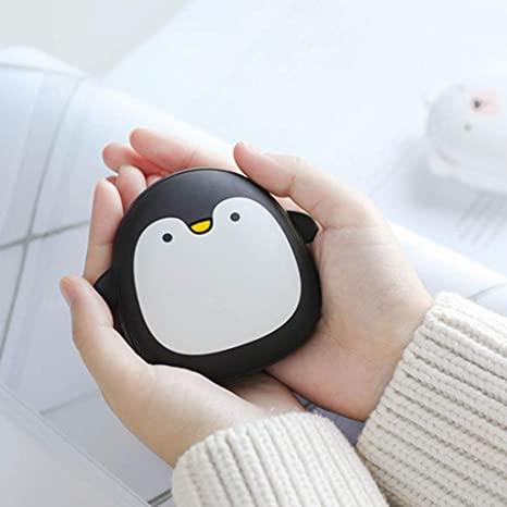 EqWong - Scaldamani USB Ricaricabile, a Forma di Pinguino