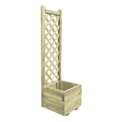 Fioriere in legno con grigliato o senza, fioriere per orti e sottovasi