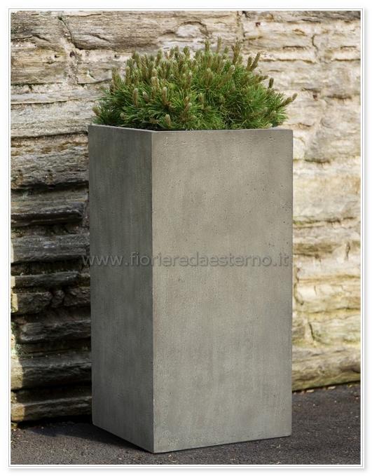 Vaso moderno alto 43920455 in fibra di argilla | leggeri