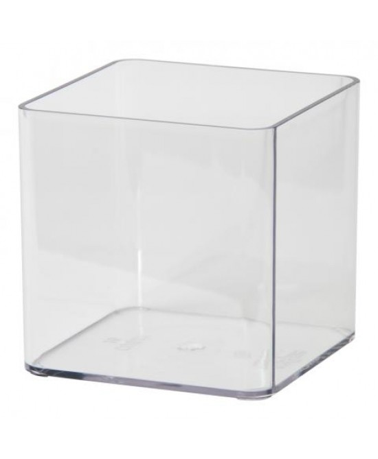 Wepa Vaso In Plastica Trasparente Quadrata 50ml 10 Pezzi