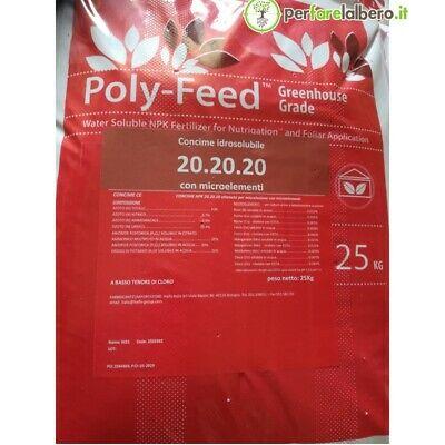 Poly-feed Haifa Concime idrosolubile NPK 20.20.20 + Me 25 kg | eBay