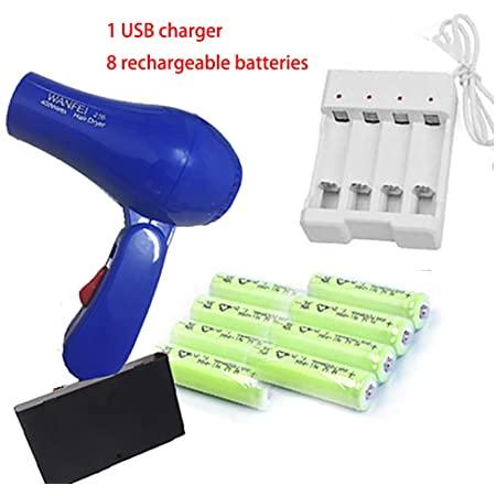 Asciugacapelli a batteria ricaricabile senza fili, compatto