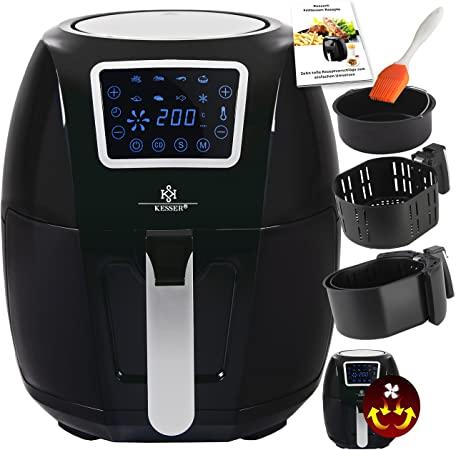 Kesser®, friggitrice ad aria calda XXL, 5,5 litri, incluso cestino