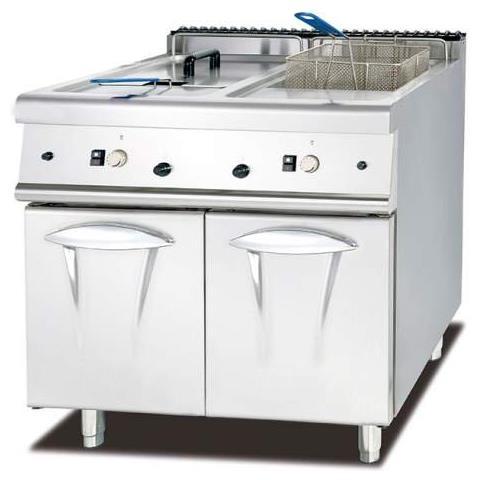 Ristochefpro - Friggitrice Inox Professionale A 2 Vasche Da Litri